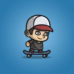 Teenager Skater Guy - 2D Character Sprite