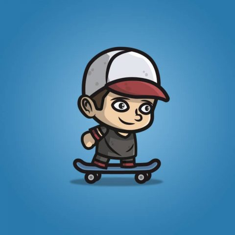 Teenager Skater Guy - 2D Character Sprite