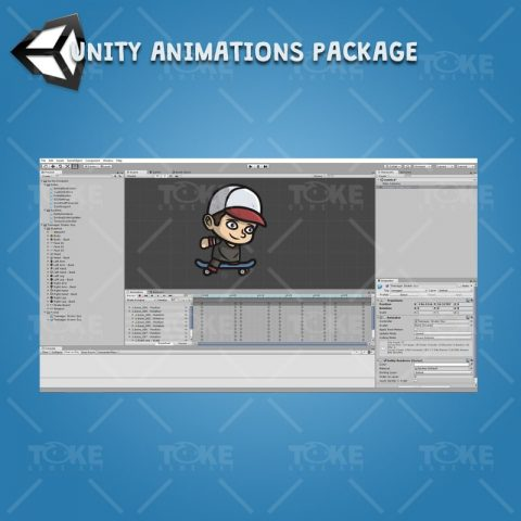 Teenager Skater Guy - Unity Character Animation Ready with Spriter2UnityDX Tool