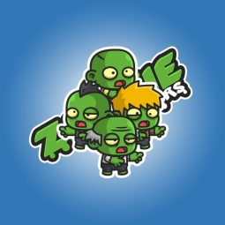 Mini zombies 01 charcater sprite, perfect for 2D cartoon spooky game. Affordable character animation for indie game developer. TokeGameArt - Royalty Free Game Asset.