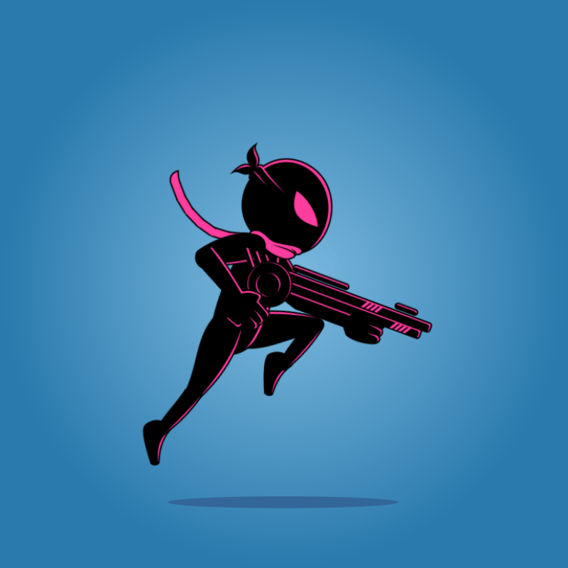 Ninja shadow 02 - 2D Character Sprite