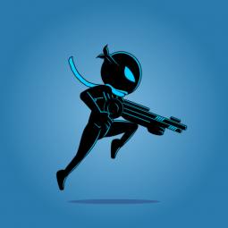 Ninja shadow 01 - 2D Character Sprite