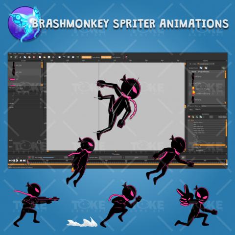 toke03 - Ninja Shadow #2 Game 2D Character Sprite