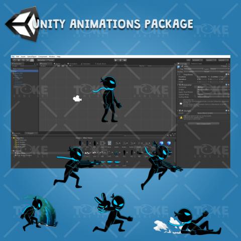 toke04 - Ninja Shadow #1 2D Game Character Sprite