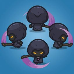 4 Directional Dark Witch - 2D Character Sprite