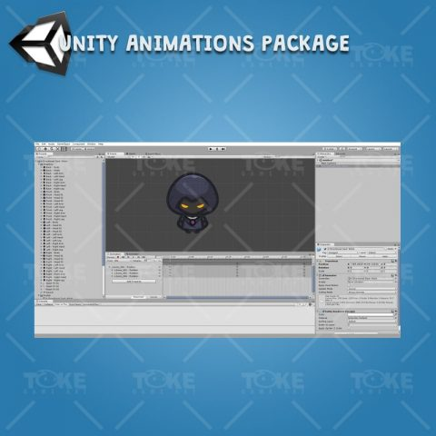 4 Directional Dark Witch - Unity Character Animation Ready with Spriter2UnityDX Tool