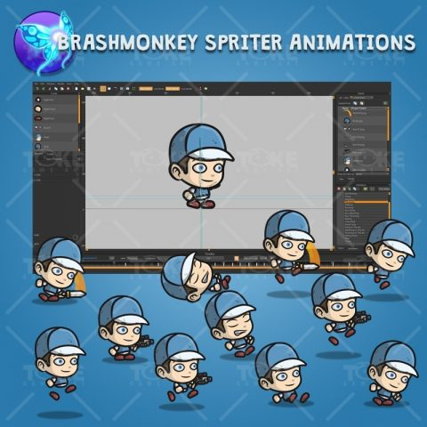 Adventurous Guy 02 - Brashmonkey Spriter Charcater Animations