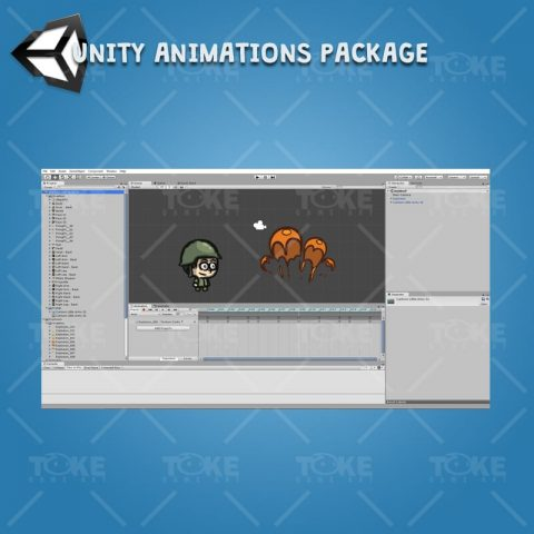 Cartoon Little Army 01 - Unity Character Animation Ready with Spriter2UnityDX Tool