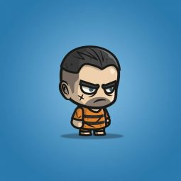 Chibi Prisoner Guy - 2D Character Sprite for Indie Game Developer