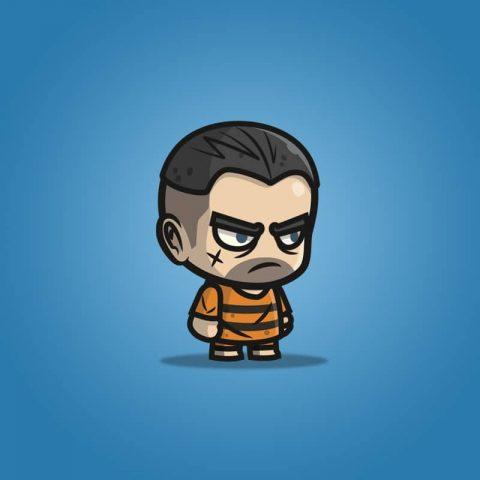 Chibi Prisoner Guy - 2D Character Sprite for Indie Game Developer