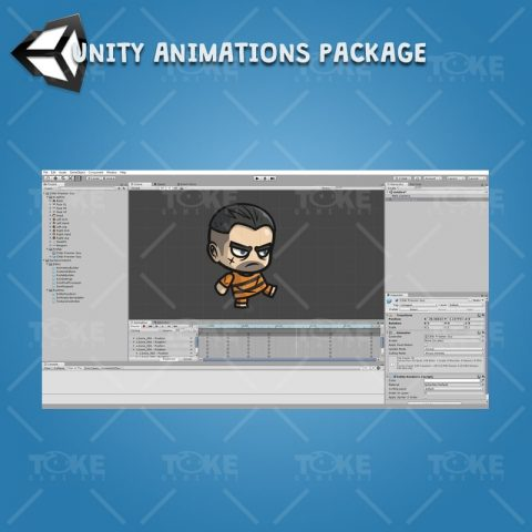 Chibi Prisoner Guy - Unity Character Animation Package Ready with Spriter2UnityDX Tool