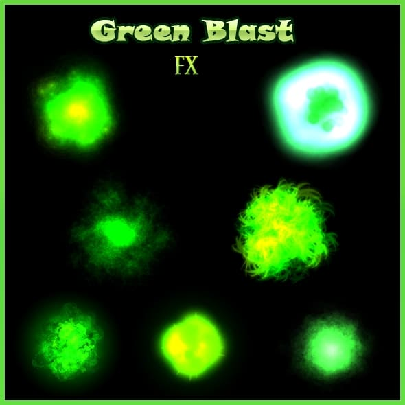 Green Blast FX - Game Visual Effect