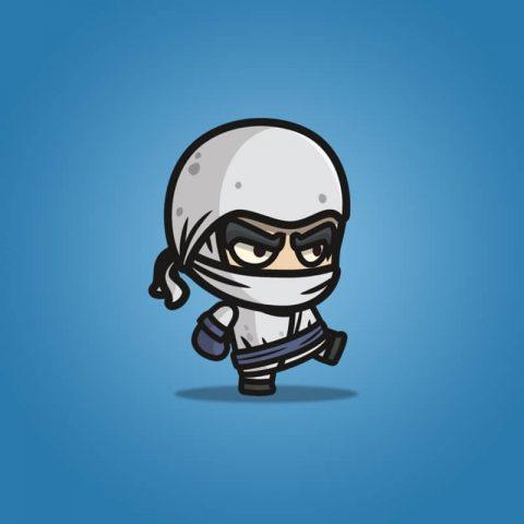 White Ninja - 2D Character Sprite
