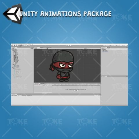 Black Ninja - Unity Character Animation Package Ready with Spriter2UnityDX Tool