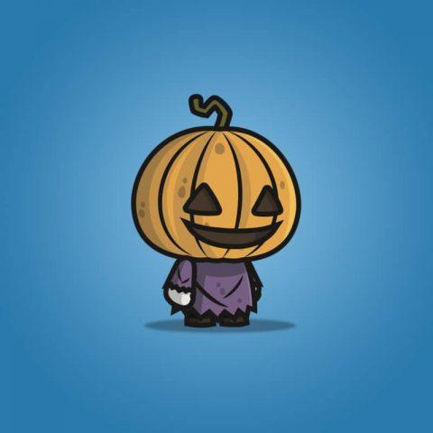 Pumpkin Head Guy - 2D Character Sprite