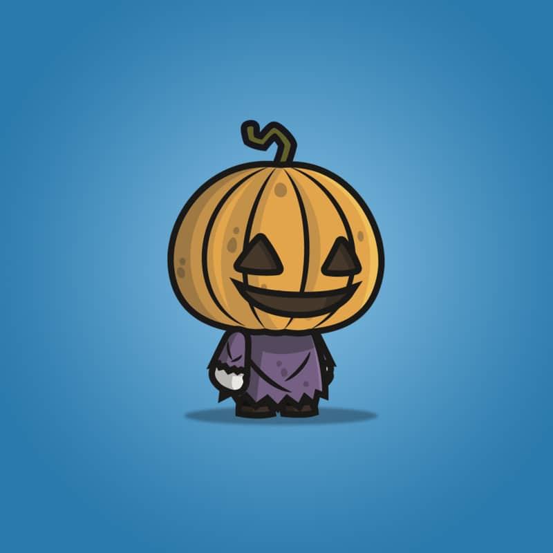 Pumpkin Head Guy - 2D Character Sprite