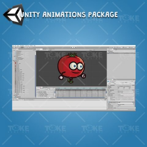 Tomato Guy - Unity Character Animation Package Ready with Spriter2UnityDX Tool