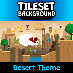 Desert 2D Tileset and Background is designed for you that want to make a game with desert 2d game. Royalty Free 2D Game Assets.