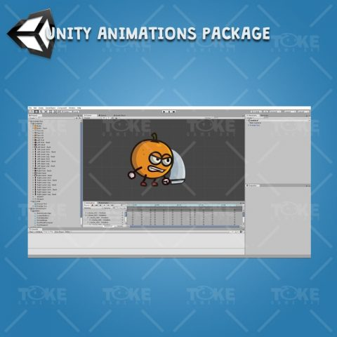Orange Guy - Unity Charcater Animation Package Ready with Spriter2UnityDX Tool