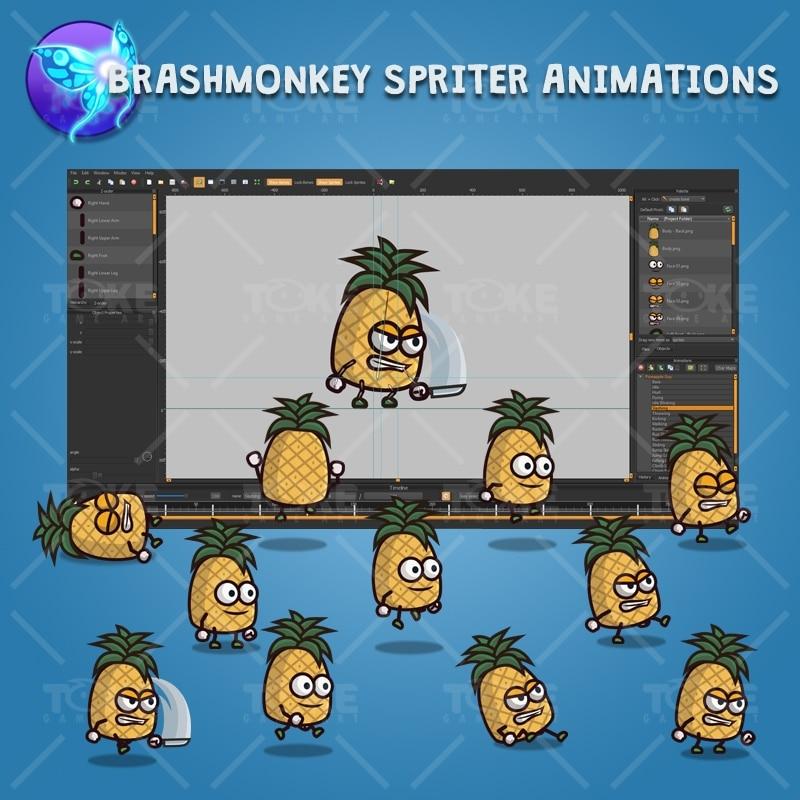 Pineapple Guy - Brashmonkey Spriter Character Animations