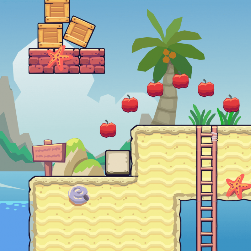 Beach Area - 2D Game Tileset