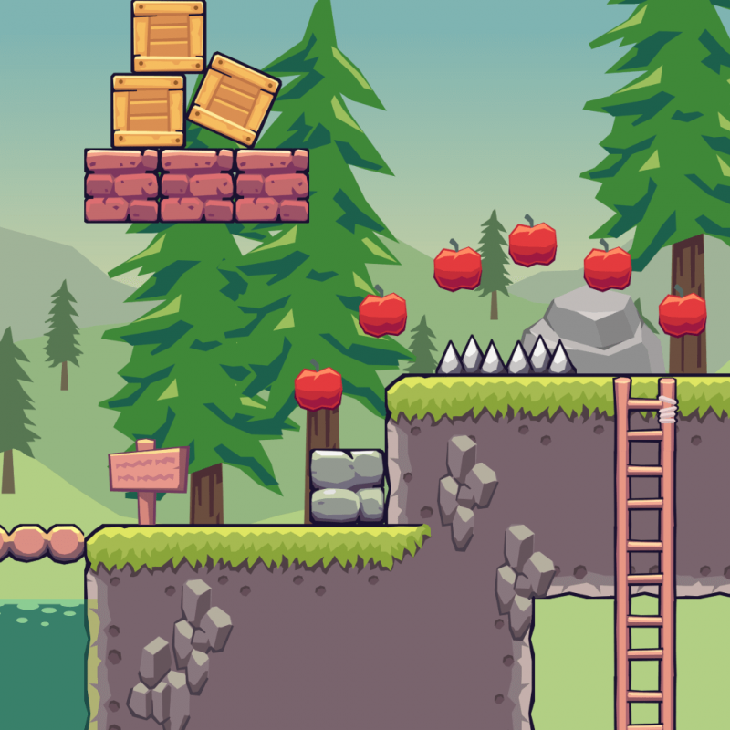 Pine Hill Area - 2D Game Tileset