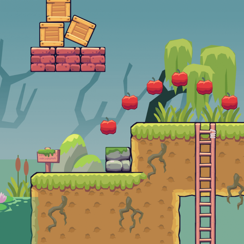 Swamp Area - 2D Game Tileset
