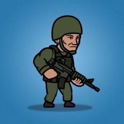 Green Army Guy - 2D Character Sprite