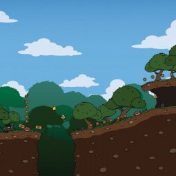 Cartoon Rainforest - 2D Sidescrolling Game Tileset