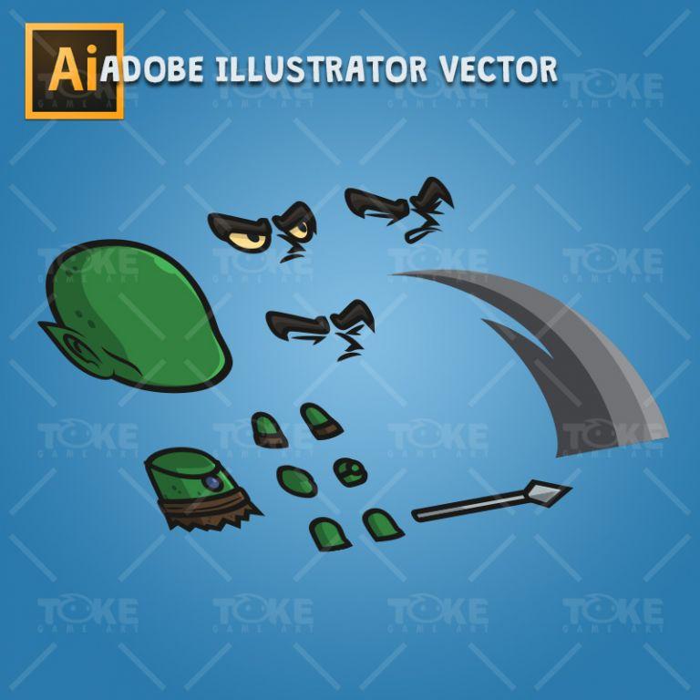 Evil Goblin - Adobe Illustrator Vector Art Based Character Body Parts