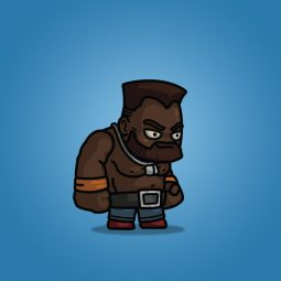 Big Dark Skin Guy - Royalty Free 2D Character Sprite