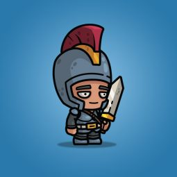 Big Head Medieval Knight - 2D Character Sprite