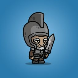 Old Medieval Knight Guy - Royalty Free 2D Character Sprite