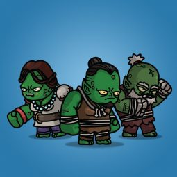 Giant Goblin 3-Packs Royalty Free 2D Character Sprite for Game