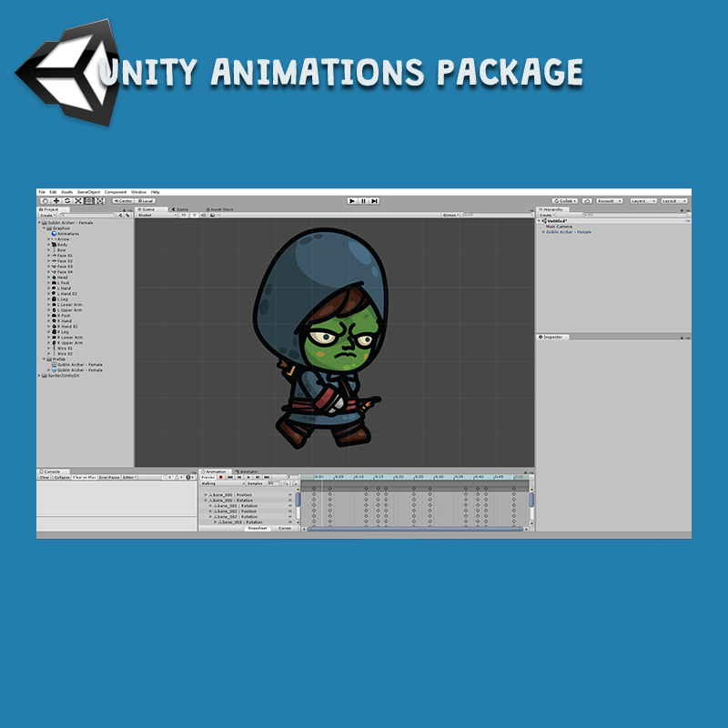 Goblin Archer 3-Packs - Unity Animation Package Ready with Spriter2UnityDX Tool