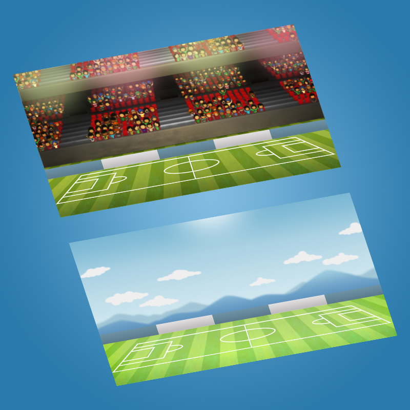 Tiny Soccer Head Game Asset - Game Backgrounds