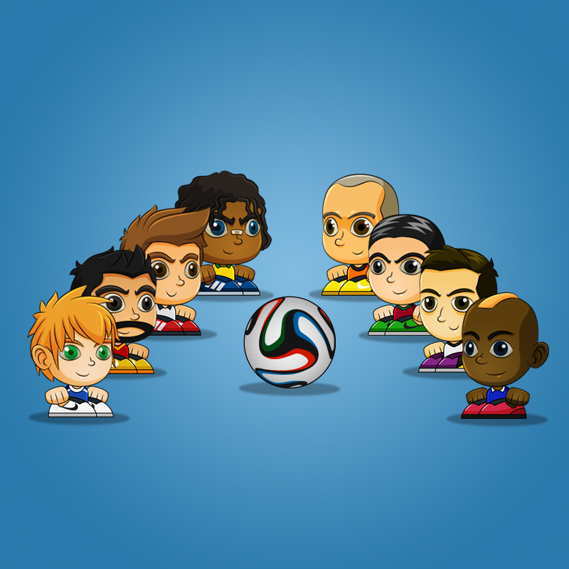 Tiny Soccer Head Game Asset - Royalty Free 2D Game Art