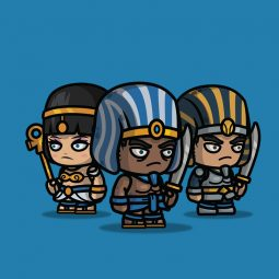 Chibi Egyptian Warrior 2D Character Sprite