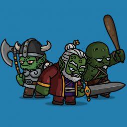 Goblin King 3-Packs Medieval 2D Character Sprite