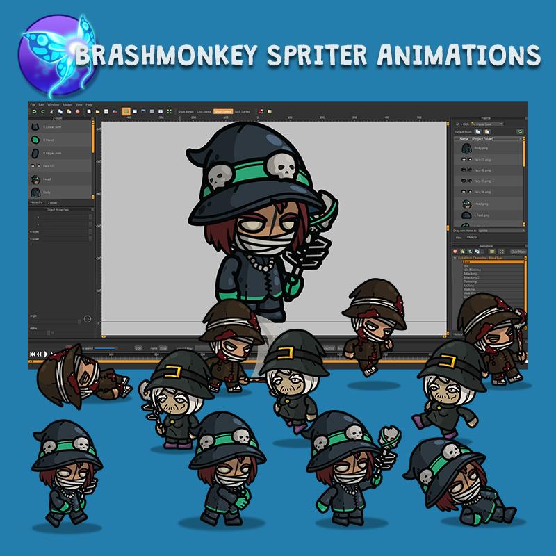 Evil Witch Charcater 3-Packs Brashmonkey Spriter Animations