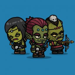 Orc Archer 3-Packs 2D Character Sprite for Game Developer