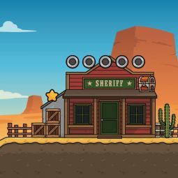 Western Desert 2D Platformer for Side Scroller Game