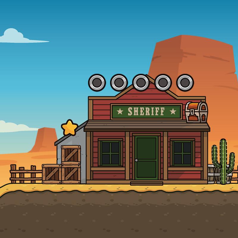 Western Desert 2D Platformer for Side Scroller Game